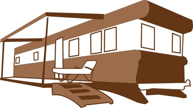mobilní dům ilustrace